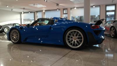 Porsche 918, Weissach Package, NEW, Voodoo Blue